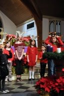 The St. Matthews reindeer sing at Church.