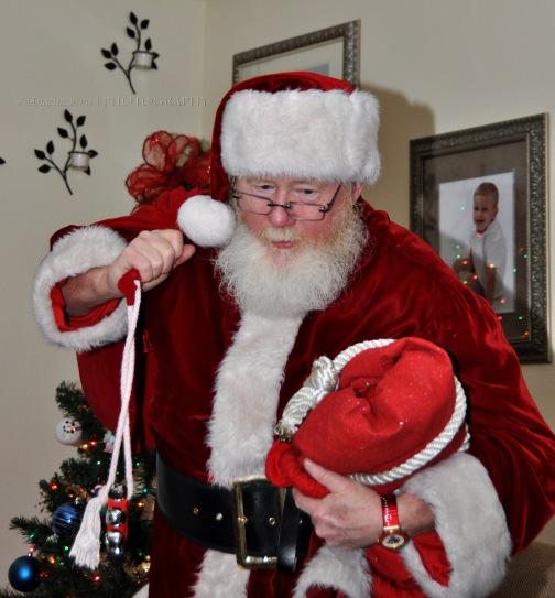 The real Santa visits.