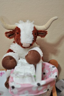 """Apparently Mr. Texas Longhorn is in charge of the diapers. Hook em""""!"""