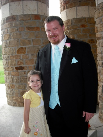 Molly with Daddy - Sep, 2009 - age 5.