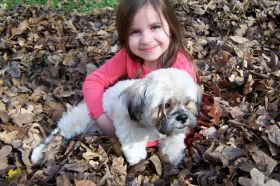 November 2009 - Molly with Fred - age 5.
