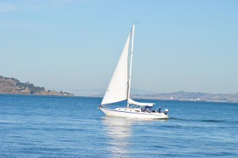 A sailboat on the move...