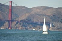 More sailboats on the move to beyond the Golden Gate...