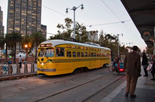The refurbished trolley bus on the move...