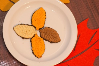 Fall leaf cookies.