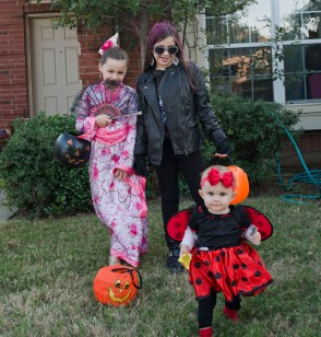 A princess, a bug, and a biker chick.