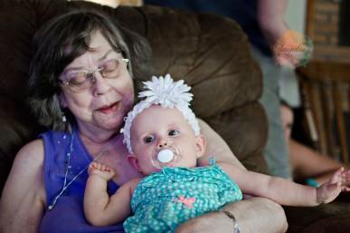 We took Averey to Oklahoma see her Great Grandma (my mom).