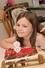 Bridget turned 8 years old.