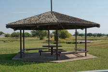 This is the picnic pavillion donated in honor of my Papa Eclair.