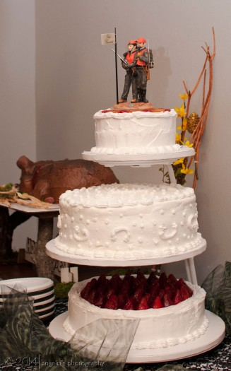 A perfect wedding cake.