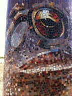 A close-up of the mosaic.