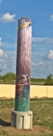This is the actual pillar off the Chisolm Trail Parkway.